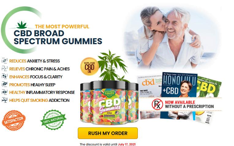 Smilz CBD Gummies (2021 Shark tank) Full Spectrum CBD Gummies Ingredients Or Negative Side Effect Scam Alert!