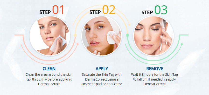 How to use Derma Correct Skin Tag Removal Serum?